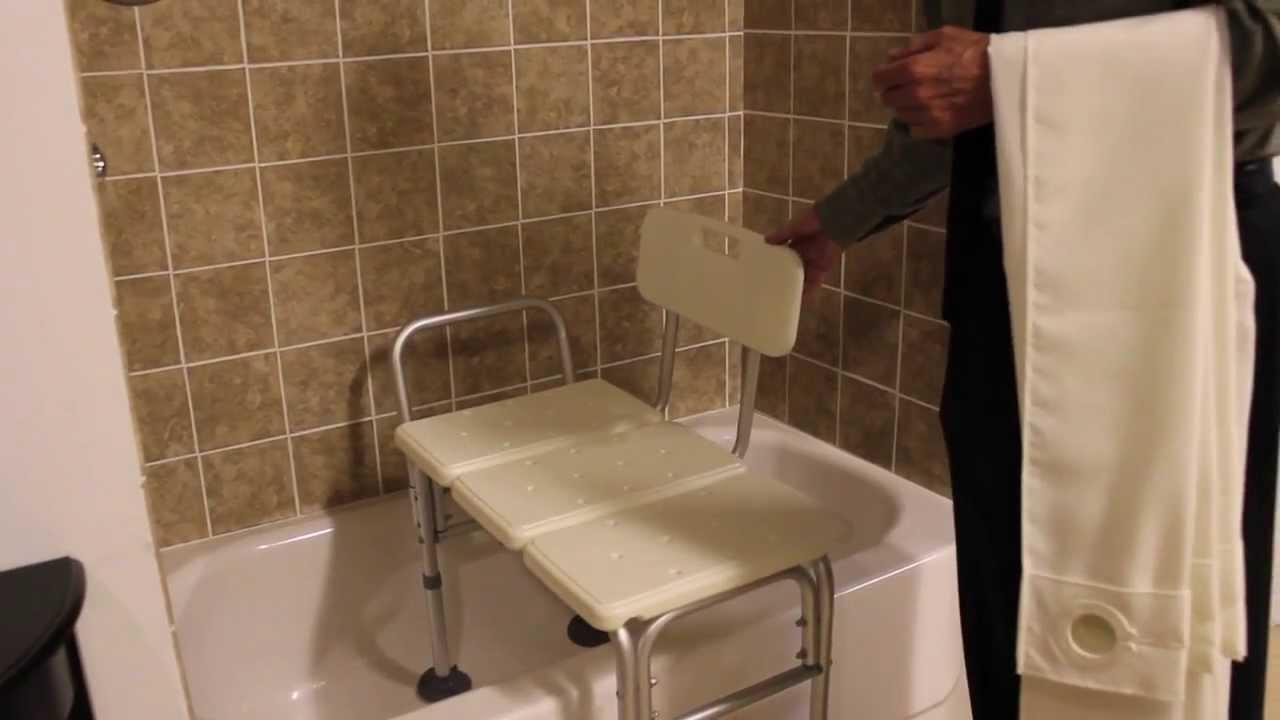 Invacare BenchBuddy Shower Curtain - YouTube