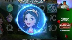 Fairy Tale Legends Mirror Mirror slots LIVE with BONUS [Online Gambling with Jersey Joe # 74]