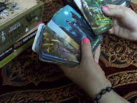 Карты таро Green Witch Tarot, Викканский Оракул Теней  и книги, распаковка, обзор