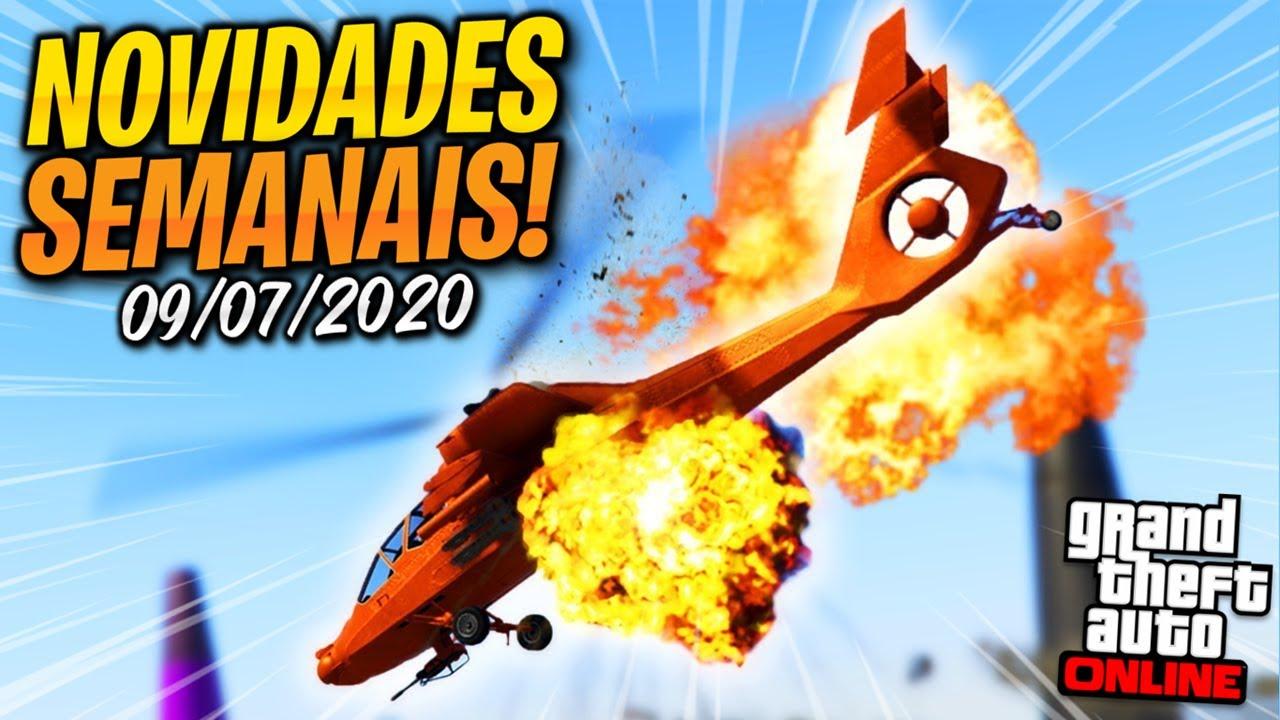 PAU QUEBRANDO NOS CÉUS DE LOS SANTOS!!! NOVIDADES SEMANAIS NO GTA ONLINE (09/07/2020)