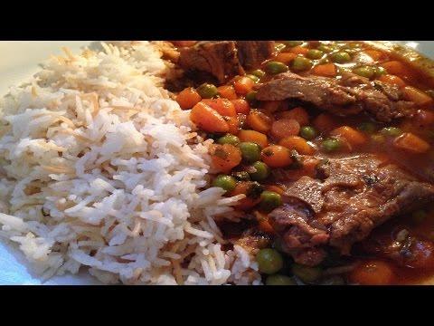 Lebanese style Bazella ( peas and carrots stew ) - طريقة تحضير يخنة البازيلا والجزر