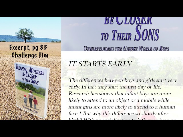 Excerpt Helping Mothers be Closer to their Sons -  it starts early