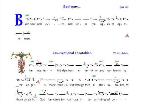 Resurrection Theotokion: Mode 4 (English)