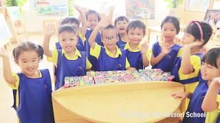 Bé học vẽ tranh và tô màu - Tiny Flower Montessori School