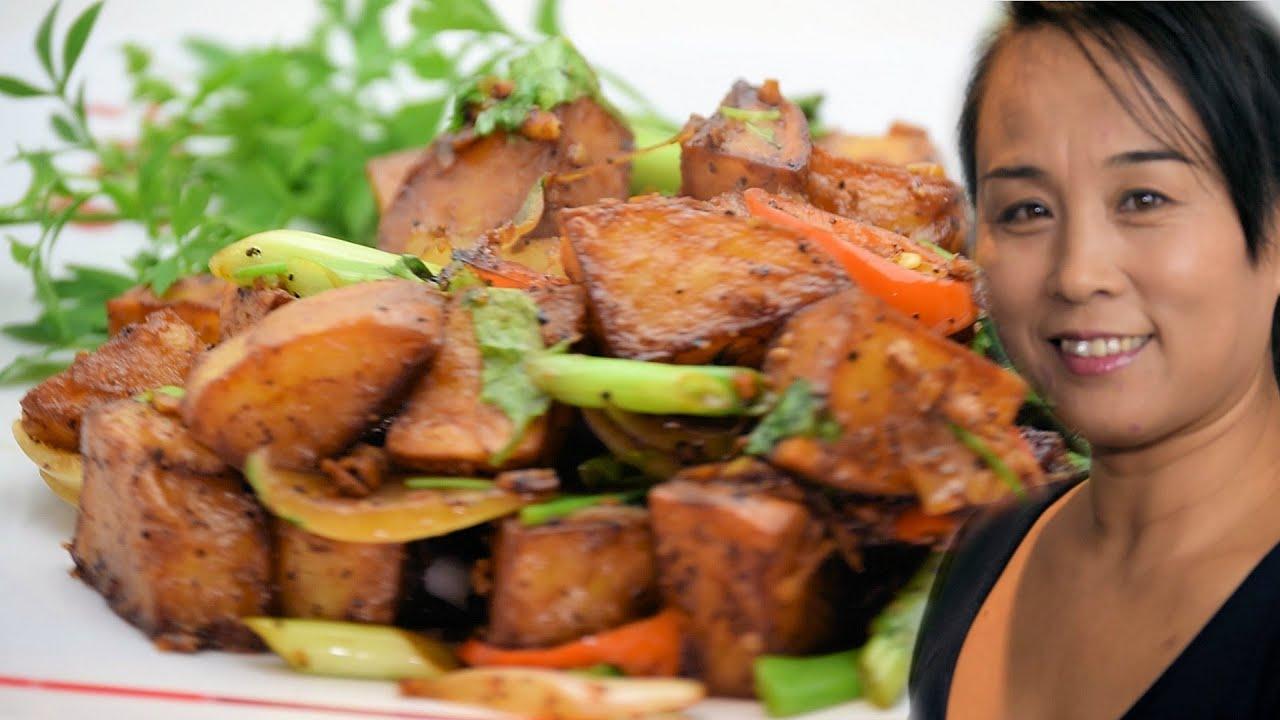 Chinese sauted potato recipe xiaos kitchen cooking channel chinese sauted potato recipe xiaos kitchen cooking channel forumfinder Image collections