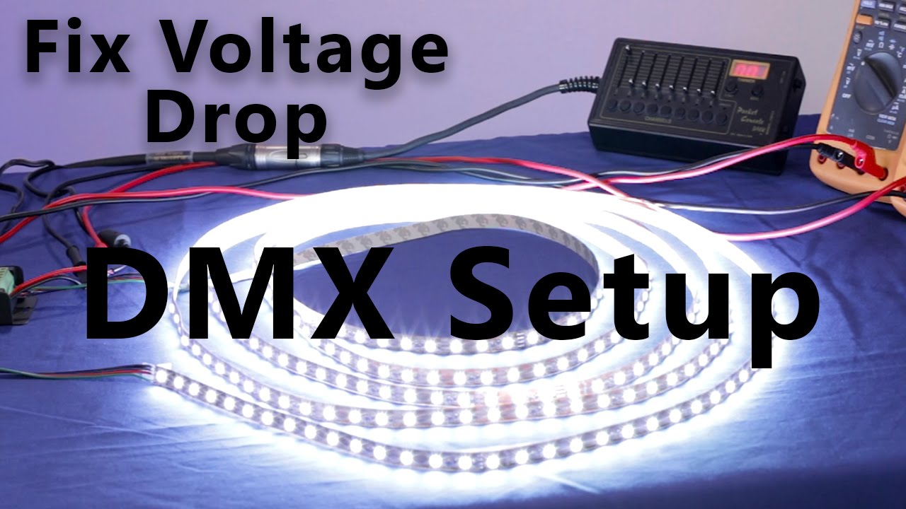 Rgb Led Strip How To Fix Voltage Drop Using Dmx Youtube 5 Pin Wiring
