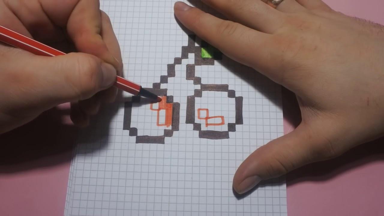 Нарисовать майнкрафт по клеточкам картинки карандашом дома поэтапно прощении, доброте