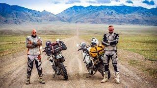 Motorcycle enduro adventure Mongolia. Yamaha XT660Z Tenere