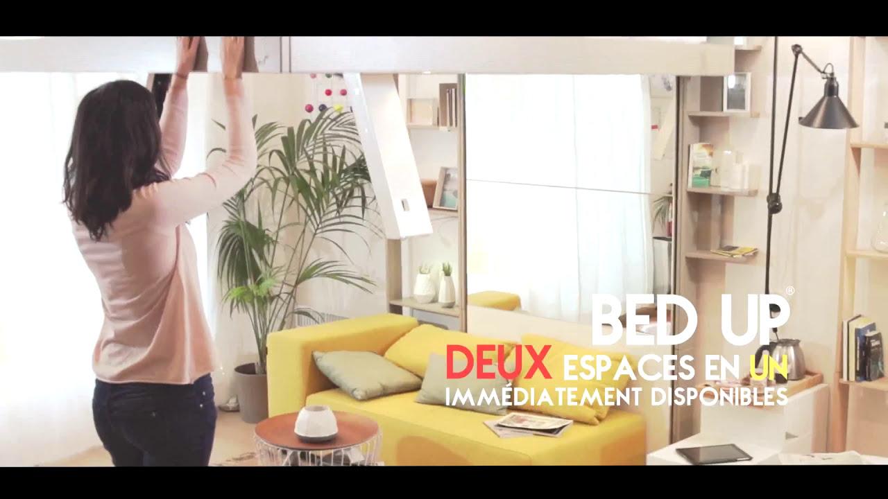 Lit Escamotable Au Plafond Bed Up Youtube