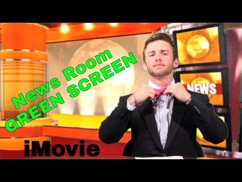 Green Screen News Report in iMovie HD