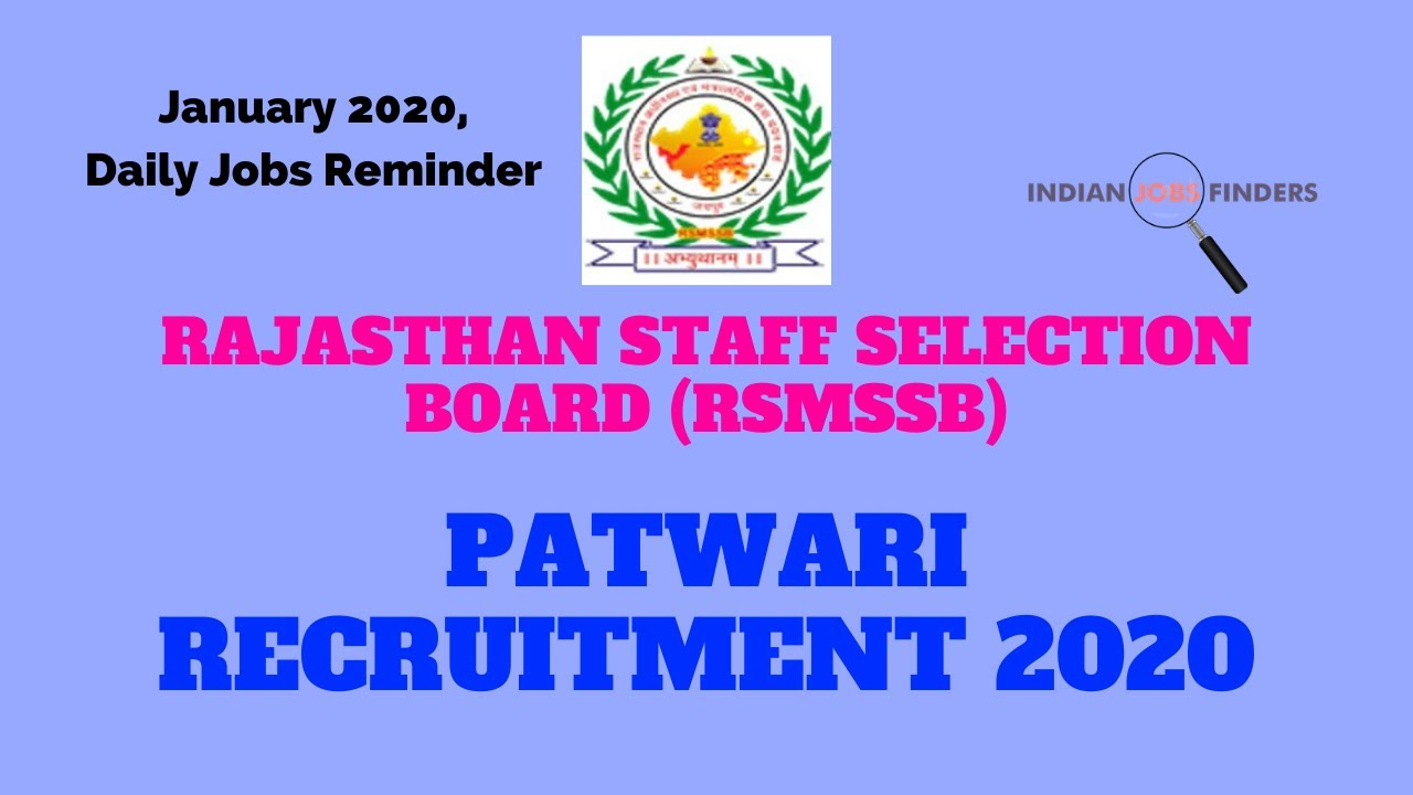 Free Job Alert 2020 Rajasthan In Hindi