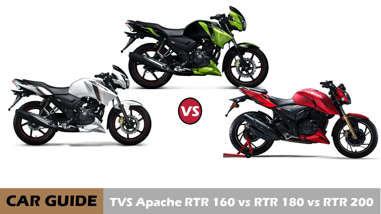 Tvs Apache Rtr 200 Vs Rtr 180 Vs Rtr 160 Full Comparison And
