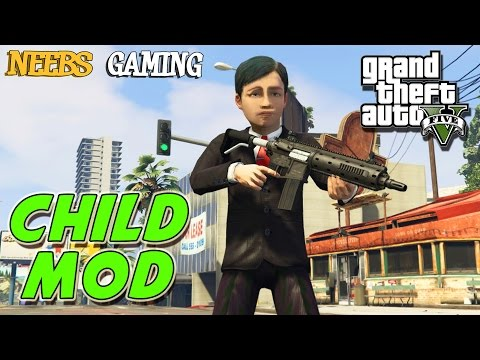 GTA 5 MODS -  CHILD MOD & NUCLEAR DEVICE  MOD (Funny Moments)