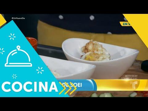 Recetas de cocina: Cómo hacer un Huevo Frito de Soei | Un Nuevo Día | Telemundo