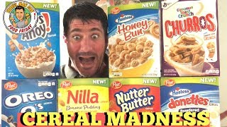 CEREAL MADNESS-TASTE TESTING REVIEW SOME GREAT NEW CEREALS FROM POST!-TRAVEL MAN DAN