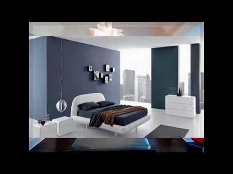 moderne schlafzimmer grau