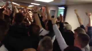 Leeds Fans vs Huddersfield - Going Mental In The Concourse At Half Time