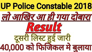 UP Police Constable result 2018/UP Police Constable final result 2018/UP Police Constable cut off