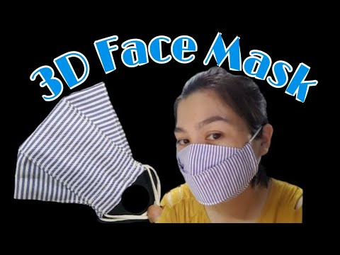 How to sew a simple 3D mask / The size of the fabric is 32 x 25cm . ( Chuẩn bị vải 32cm x 25cm ).