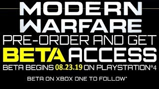 Call of Duty Modern Warfare Beta Date Leaked (Call of Duty Modern Warfare Multiplayer Beta Date) COD