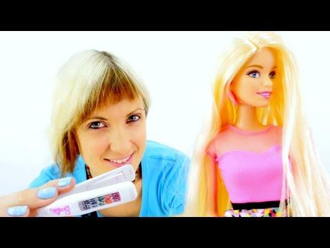 Мультик Барби Подстригаем Красим волосы Салон Красоты Игрушки и Игры для девочек
