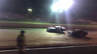 Street Stock racing at Tazzwell Speedway 7-14-2018