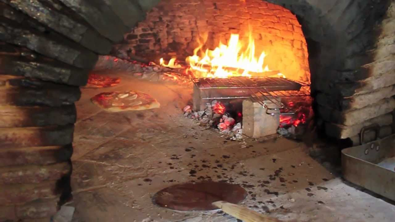 Old School Wood Fired Oven Cooking