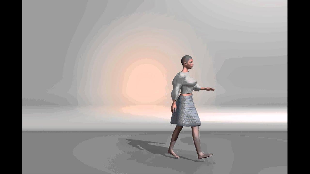 Makehuman Mocap (CMU BVH) Test - simple walk