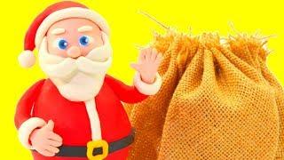 Santa Claus Visits Frozen Elsa & Spiderman Play Doh Cartoons Hulk Stop Motion Animations thumbnail