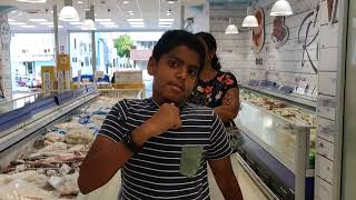 Pranavraja at Fresh and Ready made Food Shop in Naples in Italy