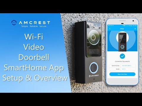 Amcrest Wi-Fi Video Doorbell SmartHome Mobile App Setup & Overview
