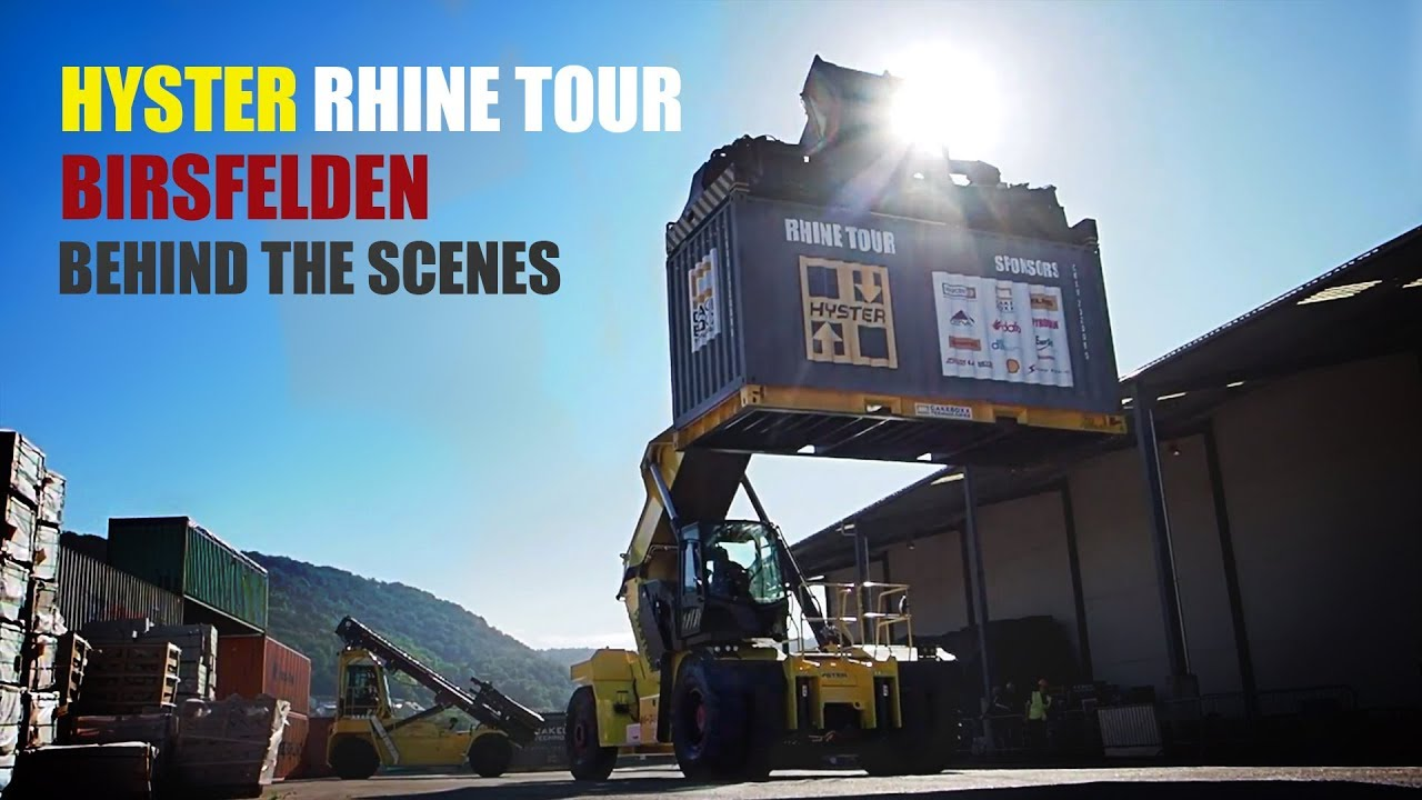 Hyster Rhine Tour Birsfelden   Behind the scenes