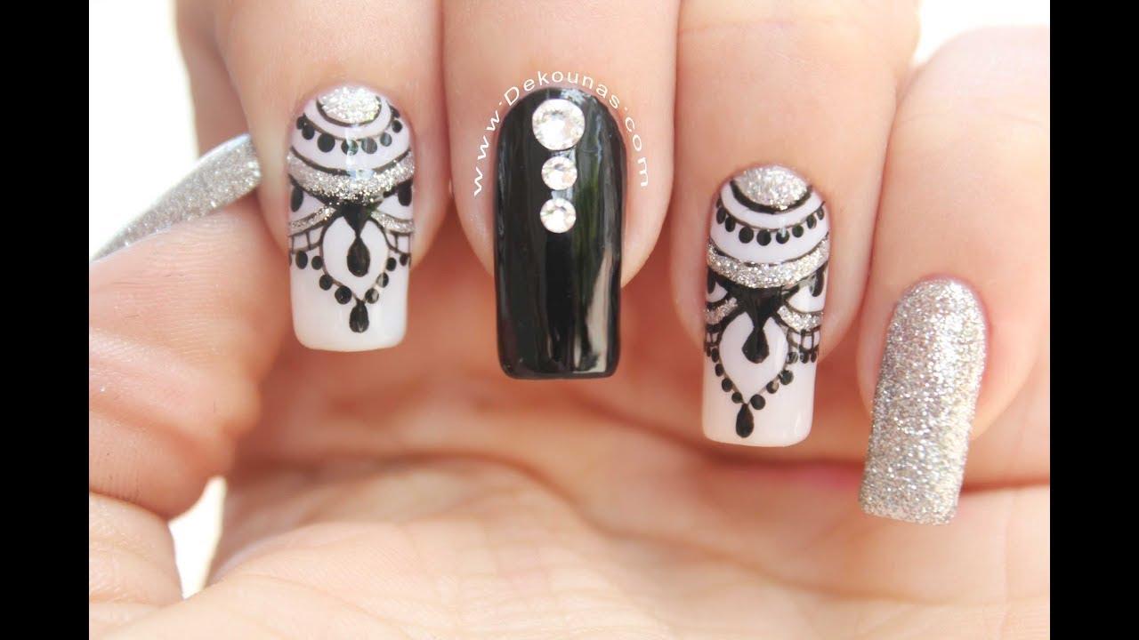 Diseño De Uñas Elegante Y Facil Easy And Elegante Nails Youtube