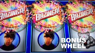 The Big Bang Theory BEHEMOTH Live Play with BONUS at Max Bet Wheel Spin Slot Machine