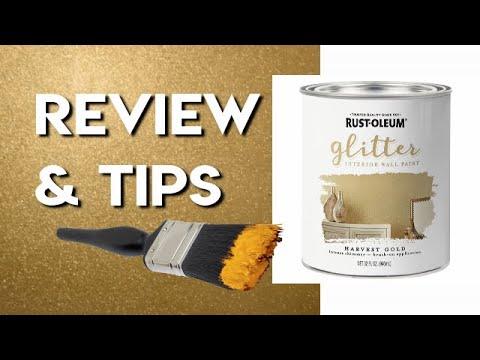 Rustoleum Glitter Paint Harvest Gold How Well Does It Work Glitter Wall Demonstration Tips Youtube