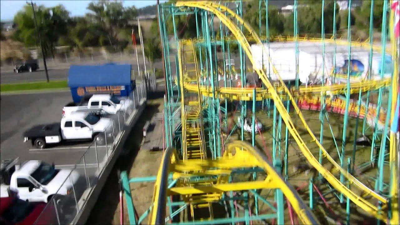 Zillerator Roller Coaster Mounted Pov Spokane Interstate