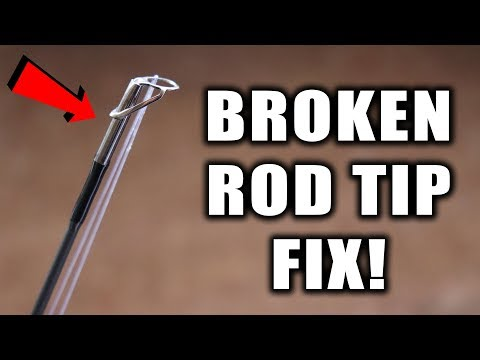 How To Fix A Broken Fishing Rod Tip - (Rod Tip Replacement)