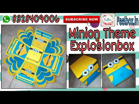 Minion explosionbox   how to make Minion explosionbox   Minion explosionbox making ideas by FeelBox
