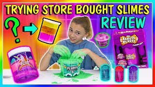 TESTING STORE BOUGHT SLIMES | STASH OR TRASH | We Are The Davises