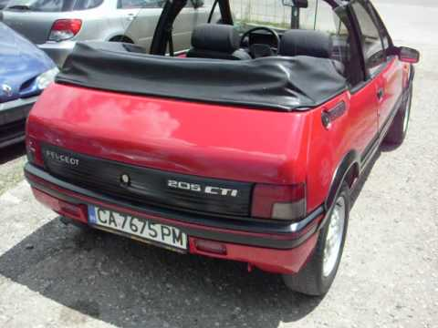 peugeot 205 cabrio gti avi youtube. Black Bedroom Furniture Sets. Home Design Ideas