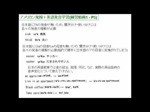 英語発音記号学習動画1 日本人にとって聞き取り難い発音音声変化
