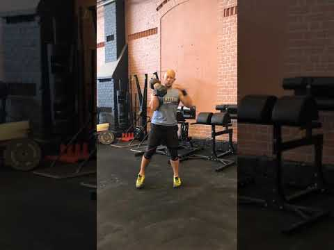 Alternating single arm db split clean