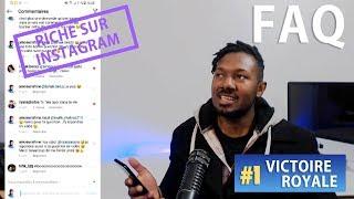 YOUTUBE MONEY, VOLER THE ARGENT OF ABONNES, TOP1 FORTNITE, RICHE ON INSTAGRAM: FAQ 1 ArnoSunshine