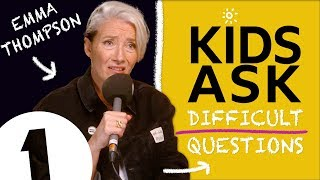"""""""Meryl Streep's a VERY good snogger!"""": Kids Ask Emma Thompson Difficult Questions"""