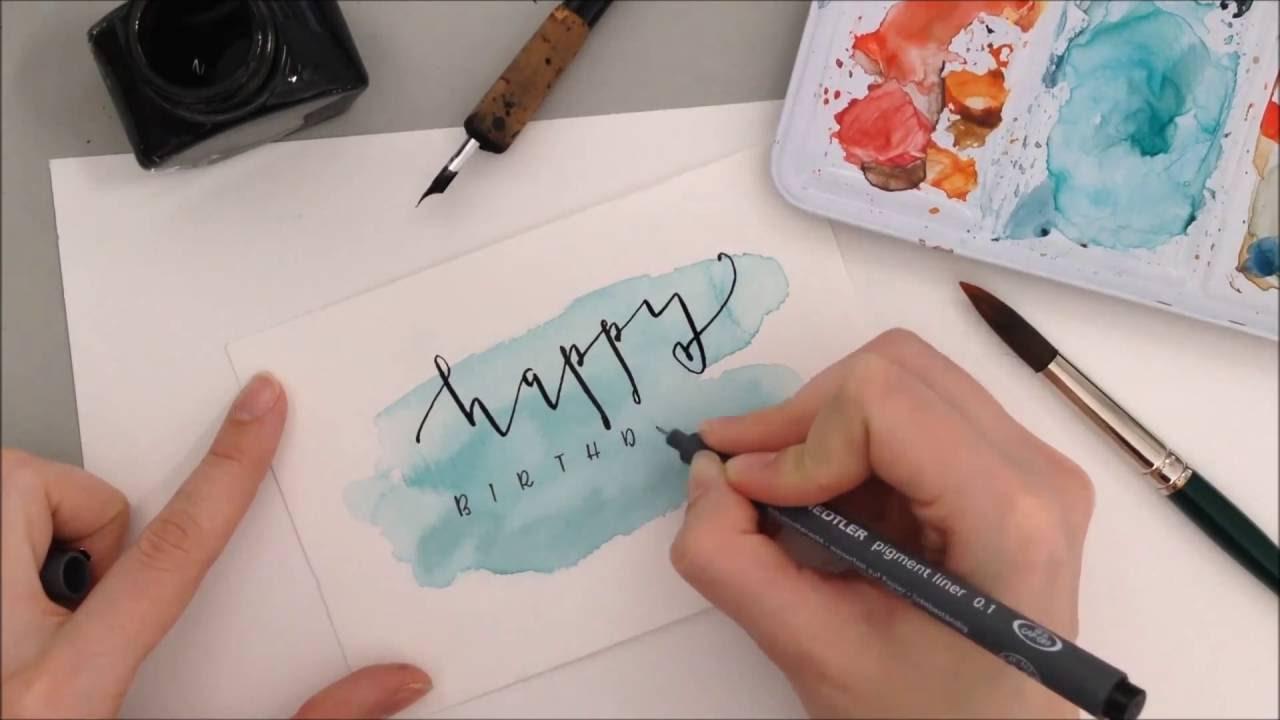 Geburtstagskarte  DIY Anleitung auf eineckigcom  YouTube