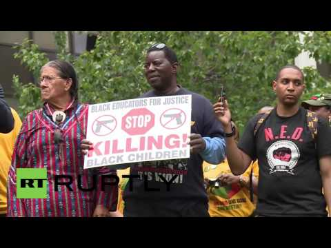 USA: New Black Panthers join Cleveland anti-racism rally ahead of GOP convention