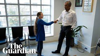 'We're a team': Greta Thunberg visits Barack Obama
