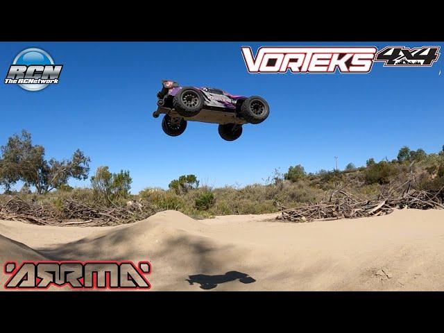 Bashing Video!  Arrma Vorteks 4x4 3S BLX - 1/10th Stadium Truck - GensAce Lipos