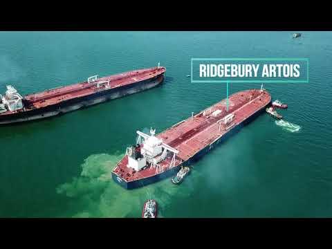 VLCC RIDGEBURY ARTOIS arriving for Ship-to-Ship Operation(STS)