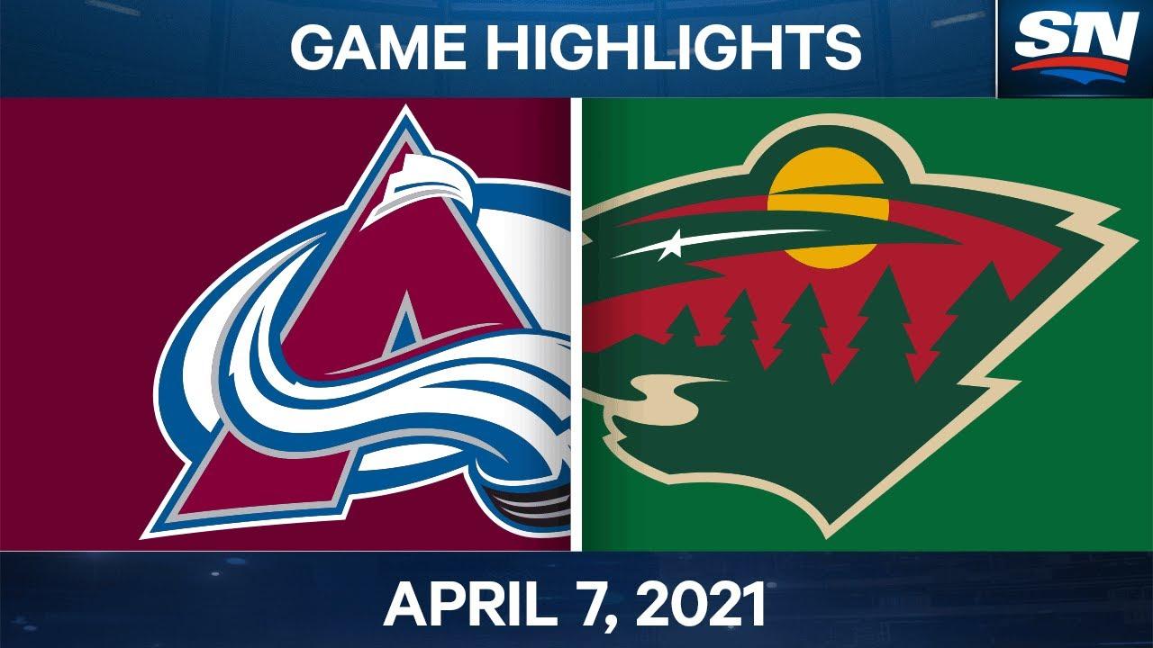 NHL Game Highlights   Avalanche vs. Wild – Apr. 7, 2021